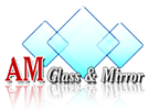 AM Glass & Mirror Logo.